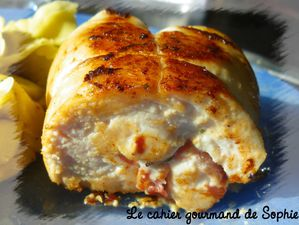 roulade poulet boursin coupe