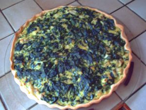 quiche au cabillaud Epinards Pat