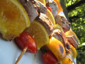 Brochette de filet de canard (1)