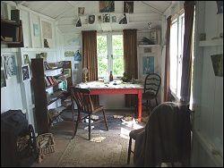 inside boathouse