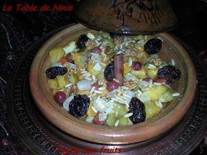 Tajine aux fruits 1