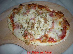 Pizza jambon fromage 6