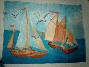 Yolande - peinture sur soie