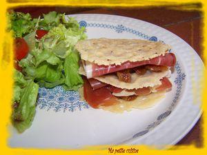 milleufeuille parmesan - jambon cru 2