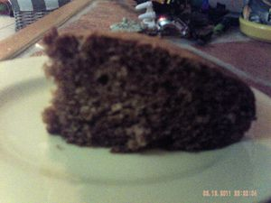 Gateau marron yaourt