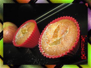 muffins aux pommes caram