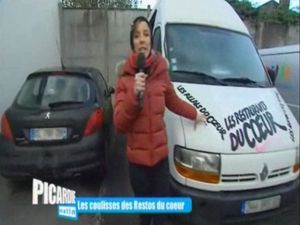 FR3 Picardie Matin Julie Poirier Restos du Coeur Beauvais 0