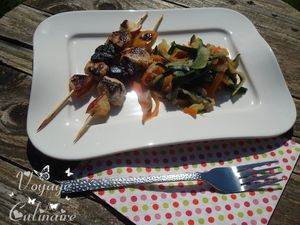 brochetteslapinpommepruneauxplancha