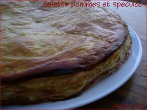 a galette pommes speculoos