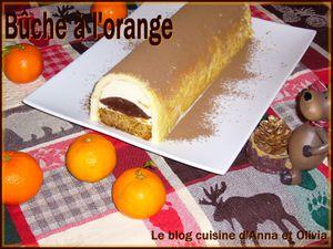 bûche à l'orange