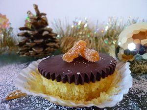 Cupcake Orange & Chocolat Noir