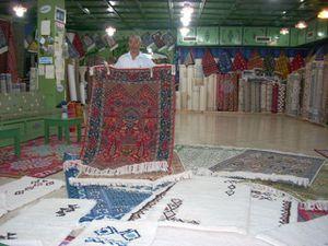 démonstration de tapis à KairouanONAT