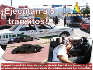 Ejecutan a 5 transitos