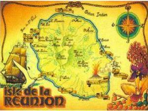 La Réunion carte ancienne