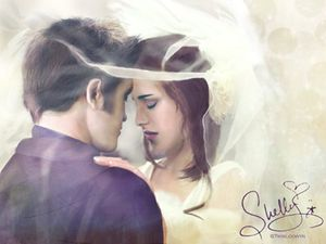 Edward+Bella Wedding Fan Art 2