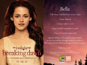 Breaking Dawn Promo Card - Bella