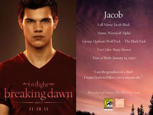 Breaking Dawn Promo Card - Jacob