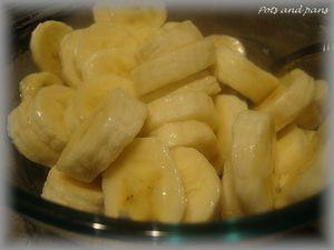 tarte banane cacahuète