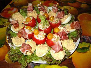 Entr e froide et rapide tomates farcies mac doine et for Entree froide originale et rapide
