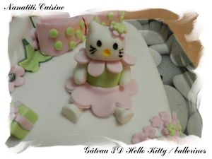 Gâteau 3d Hello Kitty ballerines 3 JPG