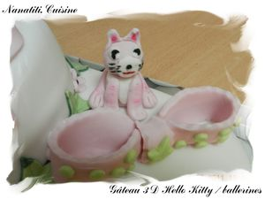 Gâteau 3d Hello Kitty ballerines 4