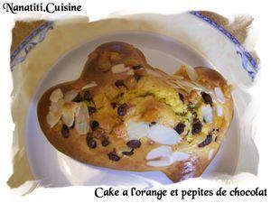 Cake a l'orange et pepites de chocolat 2