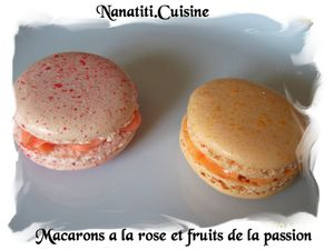 Macarons rose et fruits de la passion
