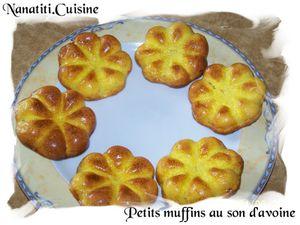 Petits muffins au son d'avoine
