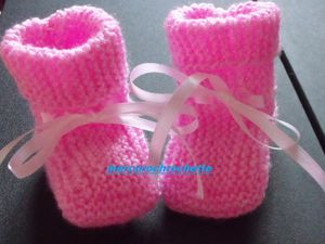 CHAUSSONS ROSE TAILLE UNIQUE