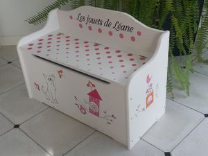 coffre jouets fille. Black Bedroom Furniture Sets. Home Design Ideas
