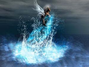 Water Angel Wallpaper 4cv15