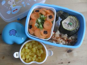 bento cammie#142 courgettes farcies