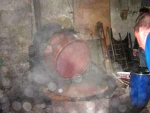 11 Nettoyage immédiat avec des seaux d'eau