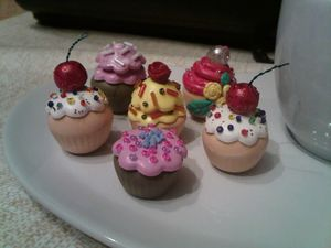 Cupcakes porcelaine froide