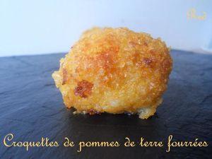 croquettes de pommes de terre fourrées