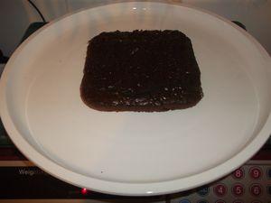 gâteau au chocolat carré