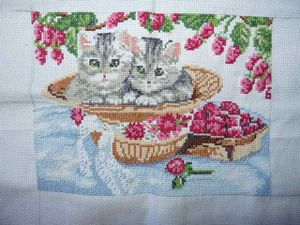 les chatons broderie 7
