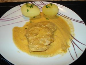 Escalopes de porc au curry 5