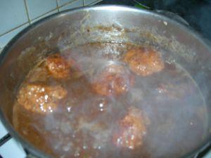 soupe au sirop de liege et boulettes de boeuf