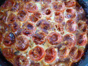 clafoutis pesto courgettes tomates cerises