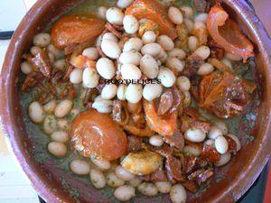 Cocos de Paimpol au chorizo et tomates