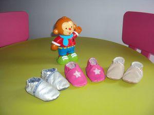 chaussons bébé 3 paires