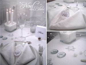 table deco noel blanc