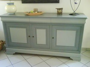 Meuble style louis philippe relook d co at home - Meuble repeint en gris perle ...