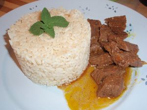 ARROZ CON TERNERA AL CHOCOLATE