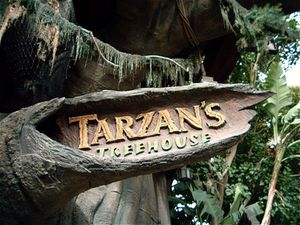 Tarzan's Treehouse Entrance Sign