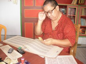 Tulku Ugen in the Library