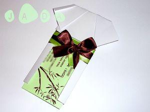 A5b origami kimono vert anis chocolat faire part mariage