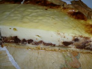 tarte fromageb poires choco nad