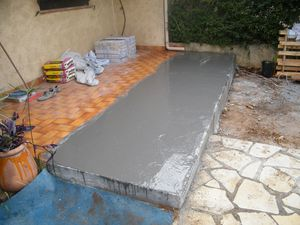 Extension et carrelage terrasse le blog de for Ragreage avant carrelage